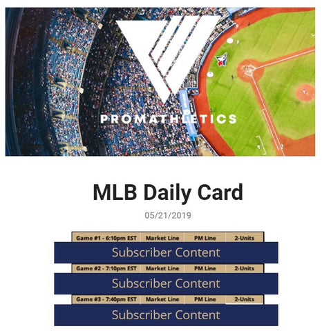 ProMathletics 5/21/2019 MLB Card