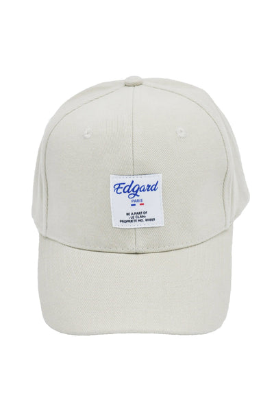 CASQUETTE BEIGE ÉTIQUETTE COUTURE made in France Edgard Paris