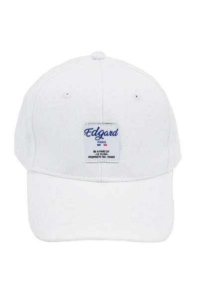 CASQUETTE BLANC ÉTIQUETTE COUTURE made in France Edgard Paris