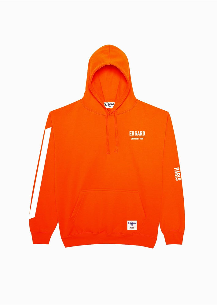 Hoodie orange fluo réfléctif 3M Edgard Paris