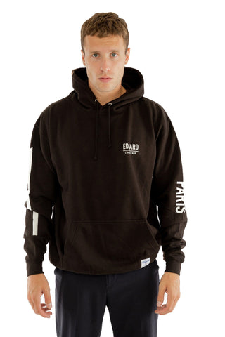 HOODIE EDGARD PARIS RÉFLÉCTIF 3M NOIR made in France Edgard Paris