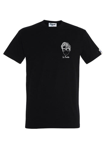 T-SHIRT BRODERIE LE POÈTE NOIR made in France Edgard Paris