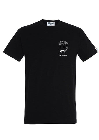 T-SHIRT BRODERIE LE VOYOU NOIR made in France Edgard Paris