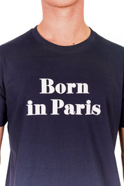T-SHIRT VELOURS BORN IN PARIS made in France Edgard Paris