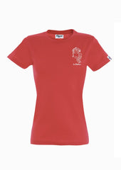 T-SHIRT BRODERIE LA BOHÈME ROUGE made in France EDGARD Paris