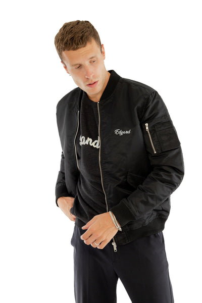 BOMBER BANDIT RÉFLÉCTIF 3M NOIR made in France Edgard Paris