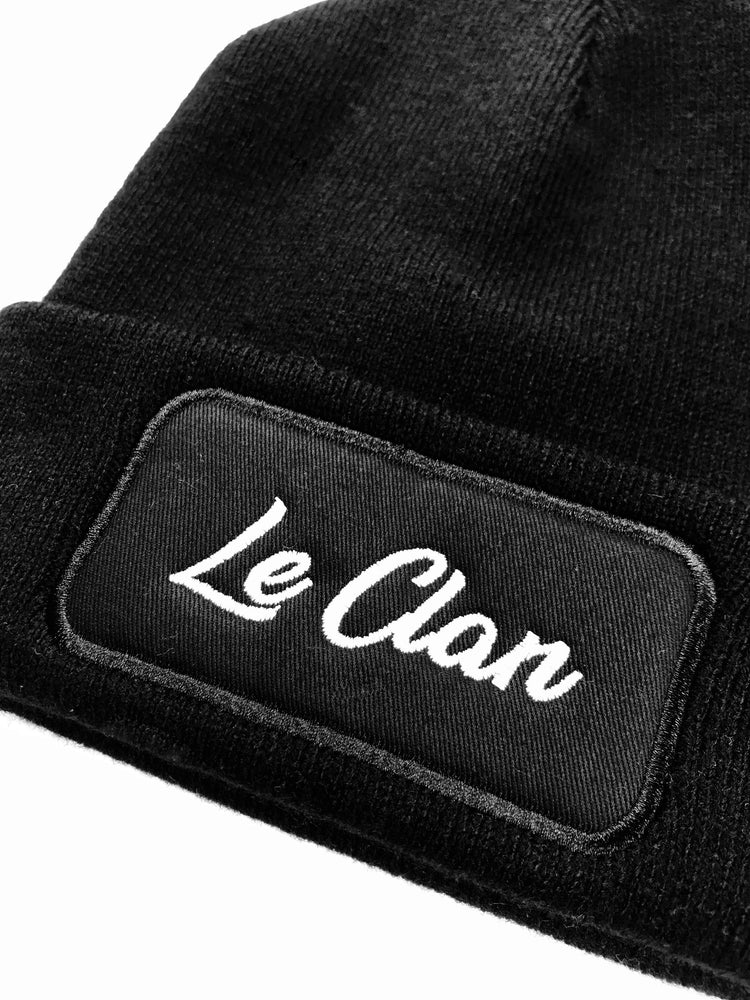 bonnet noir brodé edgard paris le clan