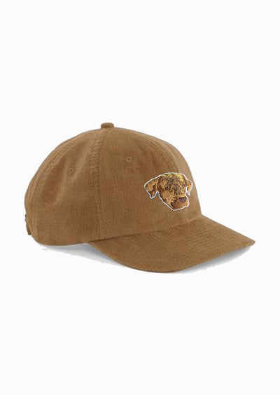 casquette velours camel brodé le chien Elliot Made in Franc