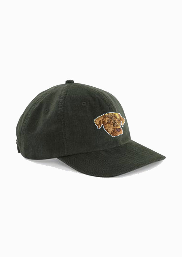 casquette velours brodé le chien Elliot Made in France