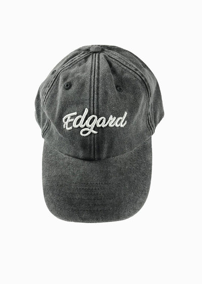 CASQUETTE EDGARD PARIS NOIR VINTAGE made in France Edgard Paris