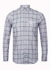 CHEMISE À CARREAUX BRODERIE EDGARD GRIS made in France Edgard Paris