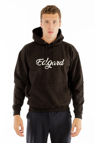 HOODIE BRODERIE EDGARD NOIR made in France vetement Edgard Paris