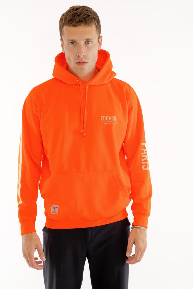 hoodie à capuche orange fluo réfléctif 3M Edgard Paris