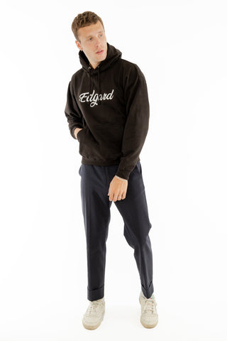 HOODIE BRODERIE EDGARD NOIR made in France Edgard Paris
