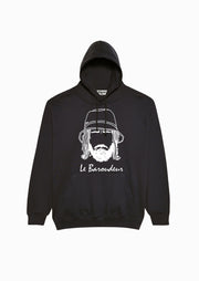 sweat-shirt noir réflectif Le Baroudeur Edgard Paris Made in France