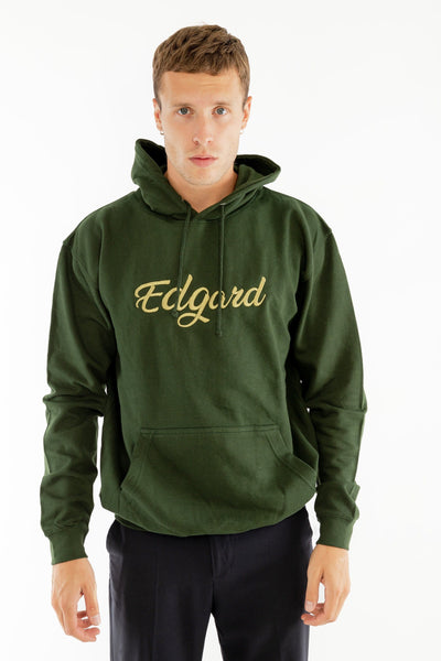 HOODIE BRODERIE EDGARD VERT made in France vetement Edgard Paris