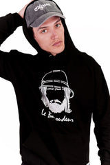 sweat-shirt noir réflectif Le Baroudeur Edgard Paris