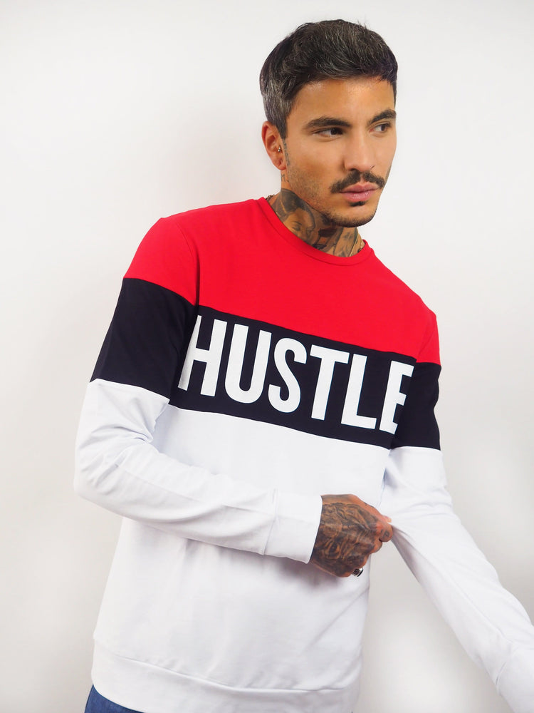 pull hustle tricolore Edgard Paris
