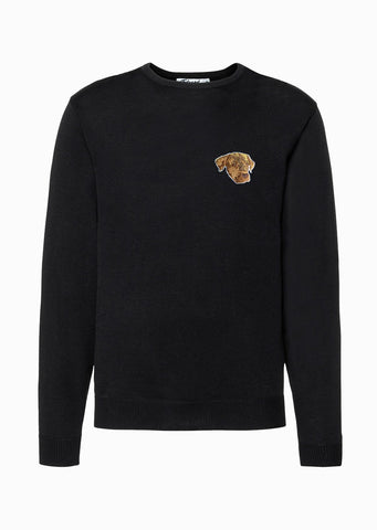 PULL BRODERIE ELLIOT NOIR made in France Edgard Paris