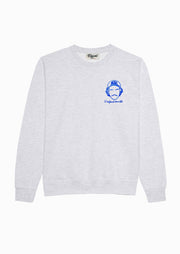 SWEATSHIRT BRODERIE L'ENFANT TERRIBLE GRIS CHINÉ made in France Edgard Paris