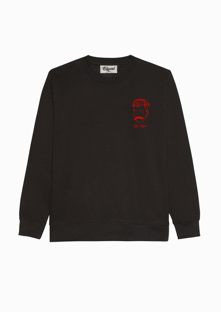 sweat-shirt brodé noir le voyou rouge Edgard Paris