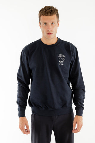 SWEATSHIRT BRODERIE LE VOYOU BLEU MARINE made in France Edgard Paris