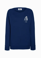 SWEATSHIRT BRODERIE LA GEEK BLEU MARINE made in France Edgard Paris