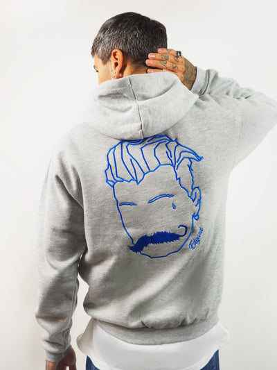SWEATSHIRT À CAPUCHE BRODERIE LE VOYOU TÊTE EN GRAND made in France vetement Edgard Paris