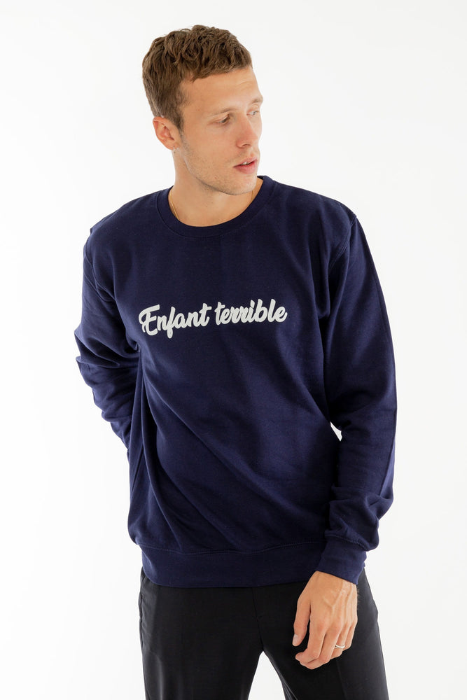 sweat-shirt bleu marine velours l'enfant terrible Edgard Paris