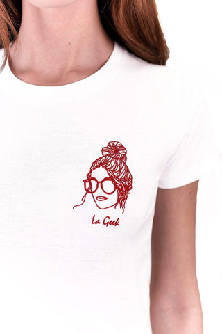 TEE-SHIRT BRODERIE LA GEEK made in France vetement Edgard Paris