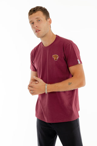 T-SHIRT BRODERIE ELLIOT BORDEAUX made in France Edgard Paris