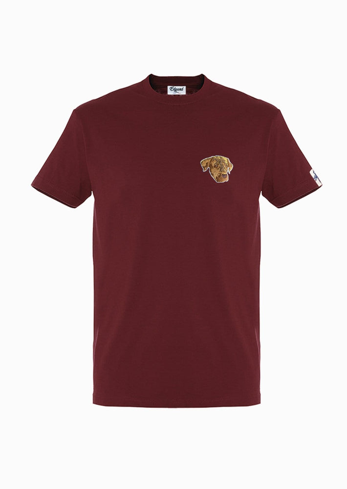 TEE-SHIRT BRODERIE ELLIOT BORDEAUX