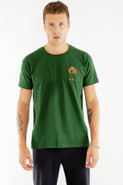 T-SHIRT BRODERIE LE POÈTE VERT made in France Edgard Paris