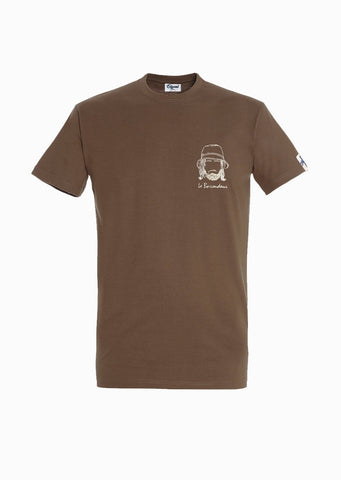 T-SHIRT BRODERIE LE BAROUDEUR TERRE made in France Edgard Paris