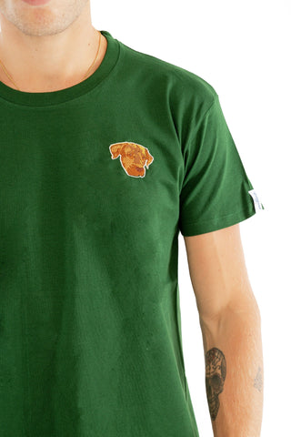 T-SHIRT BRODERIE ELLIOT VERT made in France Edgard Paris
