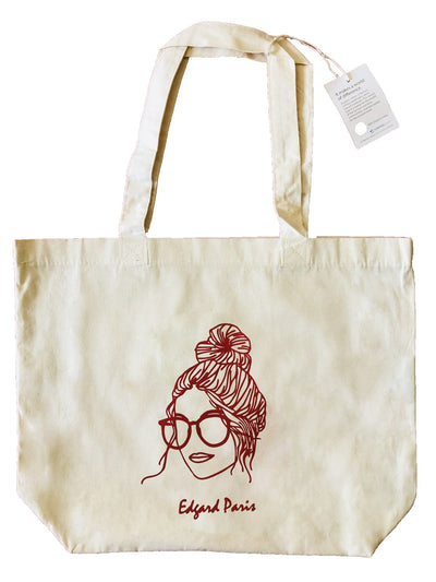 Totebag femme La Geek original 100 % coton Bio Edgard Paris
