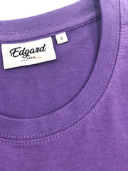 T-SHIRT BRODERIE L'ENFANT TERRIBLE VIOLET PASTEL made in France Edgard Paris