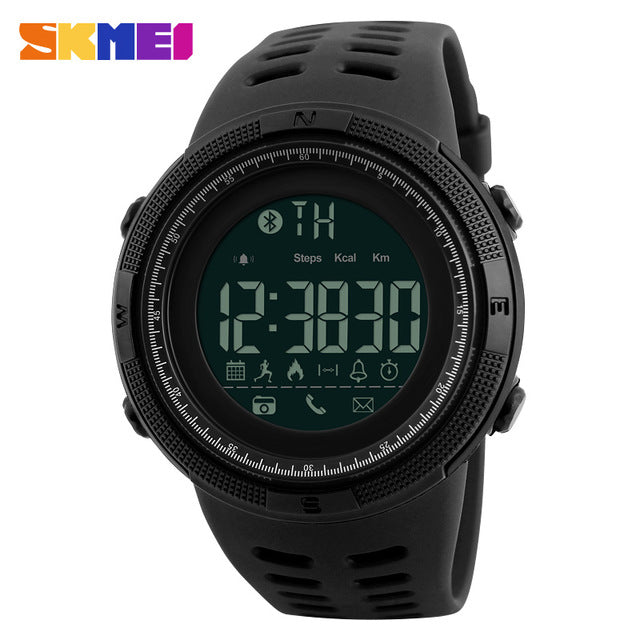 SKMEI Bluetooth Smart Watch 50M Waterproof For Apple IOS And Android