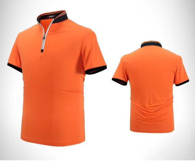 PGM Men's Dry Fit Short Sleeve Golf Shirts