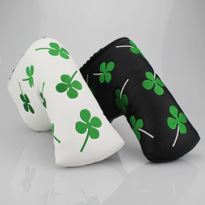Golf Club Putter Headcover Four Leaf Clover Embroidered
