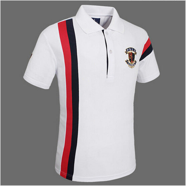 LUCKY SAILING Men's Golf Polo Cotton Shirt