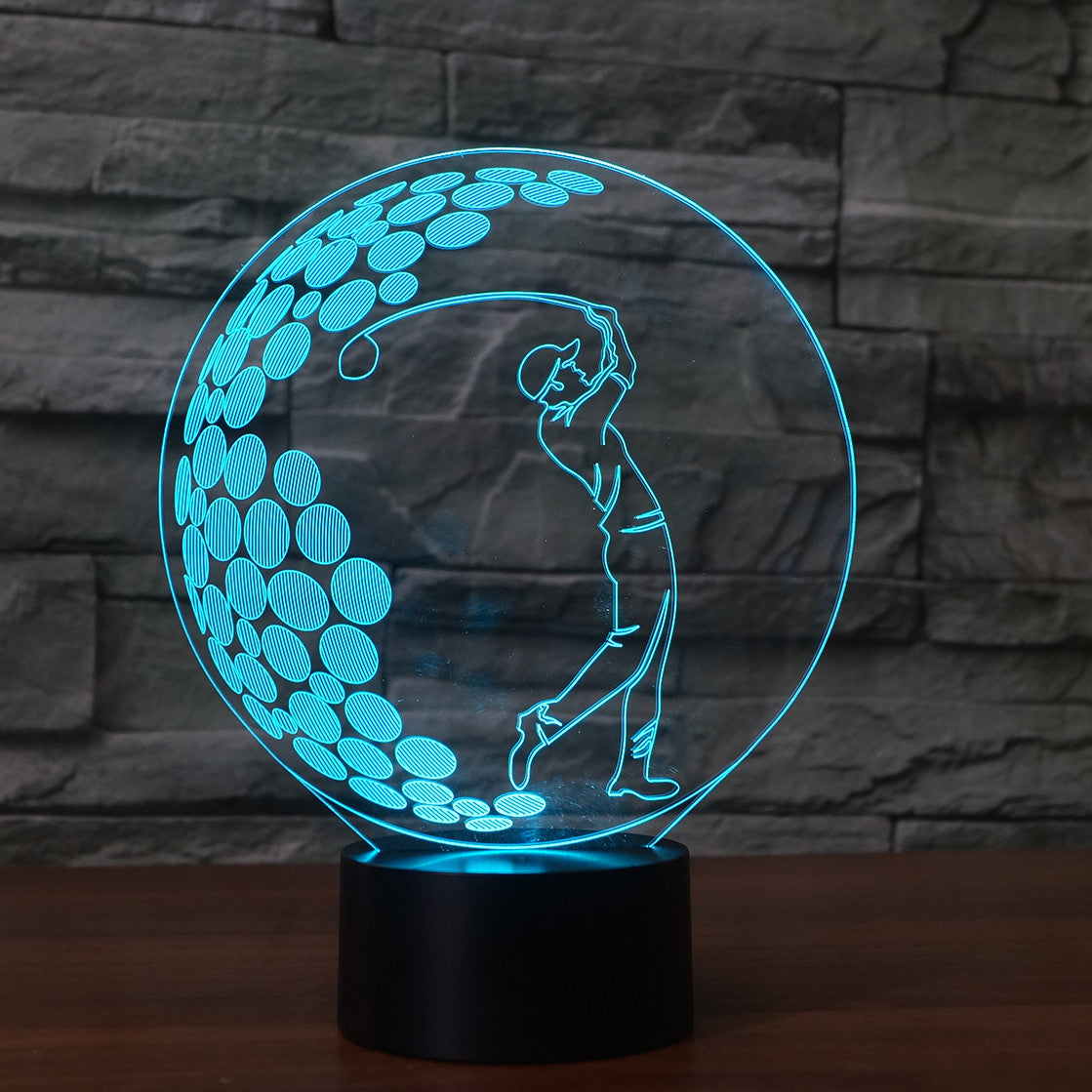 3D Golf Ball Illusion Night Light  LED