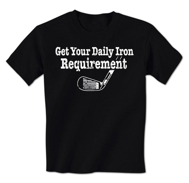Get Your Daily Iron Requirement Golf Tee