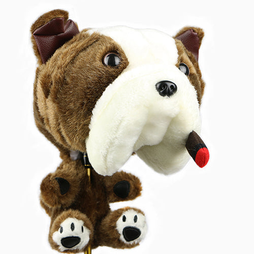 Plush Dog Head Covers for No. 1 Drivers