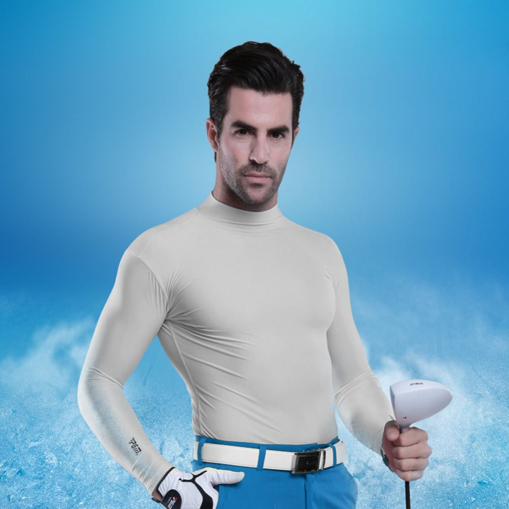 Long Sleeve Compression Type Outdoor UV Protectant Ice Shirt
