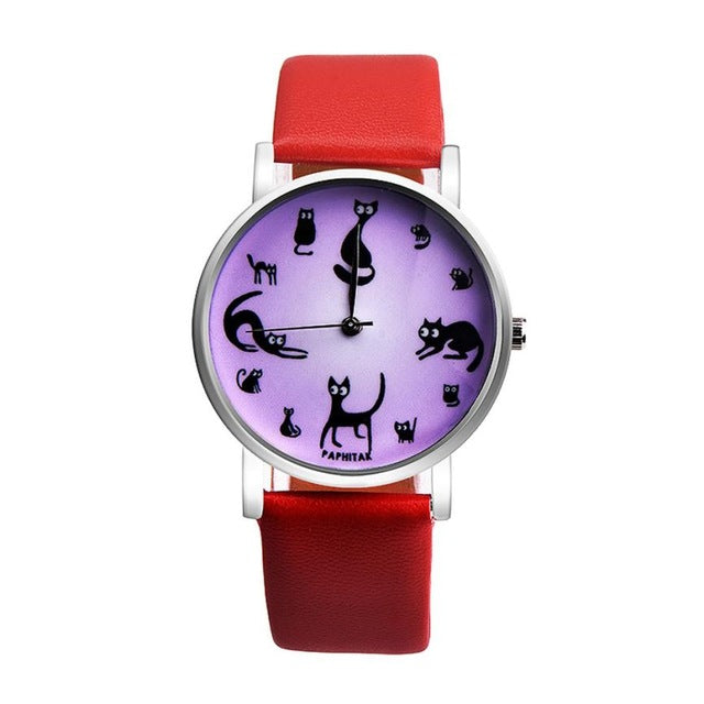 Relogio Womens's Cat Analog Quartz Watch