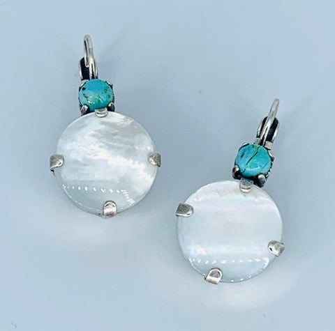 Mariana Large Earrings in Polar Paradise on Silver