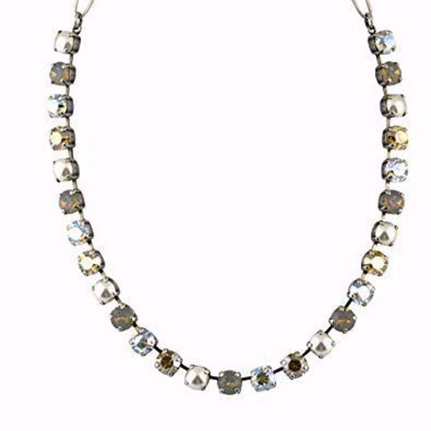 Mariana Necklace in Champagne and Caviar on Silver