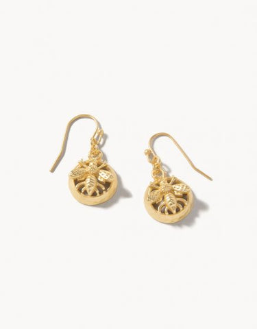 Matt Gold Bee Earrings
