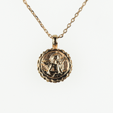 Mariana Guardian Angel Necklace in Bird of Paradise Rose Gold